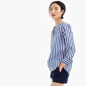 J. Crew striped tunic cotton blouse!